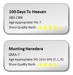 pinoy tv 2011 drama show quality rank 100 days to heaven vs munting heredera