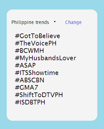 twitter hashtag trending topic abs cbn gma 7 philippine trends